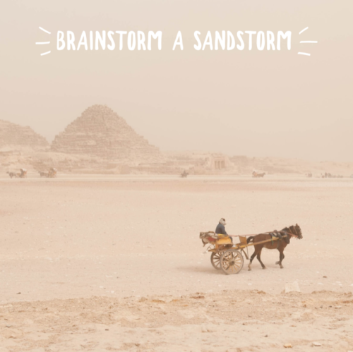 Storyplanning - Brainstorm a sandstorm - Storymakers Writing Club